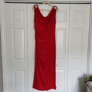 Ronni Nicole Red Maxi Dress Size 14W